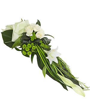 Sheaf - Modern Funeral Sheaf of White Lilies