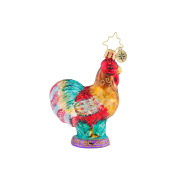 Christopher Radko Christmas Rooster Little Gem Ornament