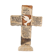 Earthstone Cross -- Lord's Prayer