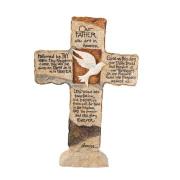 Earthstone Cross -- Lord's Prayer