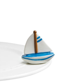 Nora Fleming Sail Me Away Sailboat Mini
