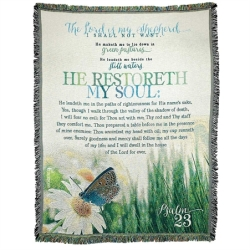 PSALM23 He Restoreth My Soul Throw