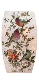 Beautiful Romance Birds Pre-Lit Medium vase