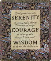 COMFORT THROW- SERENITY PRAYER