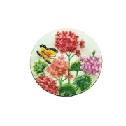 GLASS BIRDBATH-Butterfly-2gb786
