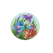 GLASS BIRDBATH-Dragonfly- 2GB787