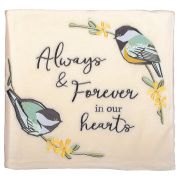 OUR HEARTS- fleece blanket with BIRDS