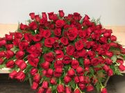 CASKET COVER- RED ROSES GRANDIOSE