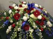 CASKET COVER- PATRIOTIC 2