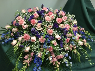 CASKET COVER- PINK & BLUE