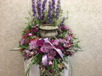 CREMATION- WREATH IN PURPLES