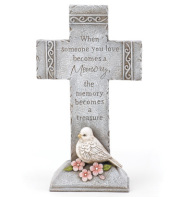 MEMORY CROSS WITH DOVE