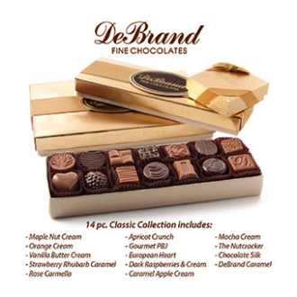 DeBrands 14 piece FAVORITES Chocolate Box
