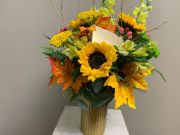 Fall Flowers with Chocolate Bar