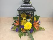 LANTERN WITH BIRD AND FLOWERS