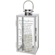 Tall LANTERN- Amazing Grace with candle 57600