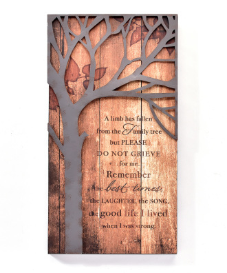 FAMILY TREE WALL PLAQUE