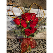 Heart Dozen Red Rose