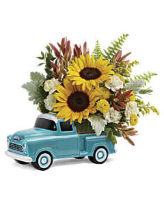 TF Chevy Pickup with Sunflowers