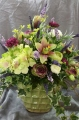 Green and Purple Silk Arrangement