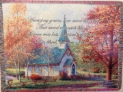 Chapel in the Woods- Amazing Grace Afghan