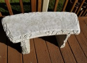 Plain Outdoor Concrete Bench