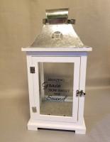 Amazing Grace White Lantern, large
