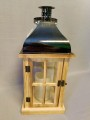 Wooden Lantern with LED candle