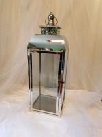 Metallic Silver Lantern, large