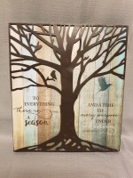 To Everything There is a Season Sign - Family Tree Collection