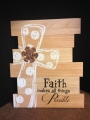 Faith Makes All Things Possible Wooden Plaque