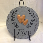 Spread Love Plaque on Stand