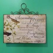 Serenity Prayer Wall Hanging