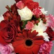 Valentine's Day Designer's Choice Bouquet - red, pink, and white with roses