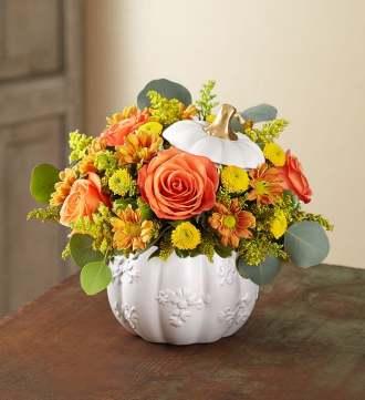 1-800-Flowers Plentiful White Pumpkin