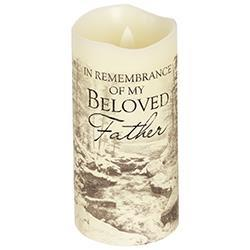 Everlasting Glow with Flicker Father Candle