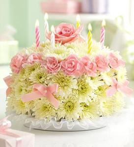 BLM Birthday Flower Cake Pastel