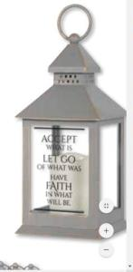 Inspirational Lantern Accept What