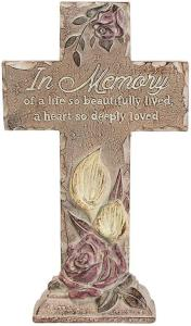 In Memory  Pedestal Cross