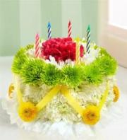 BLM Flower Cake Green and Yellow