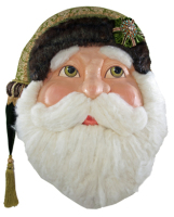 Katherine's Collection Tapestry Santa Wall Mask