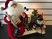 Lighted musical Santa