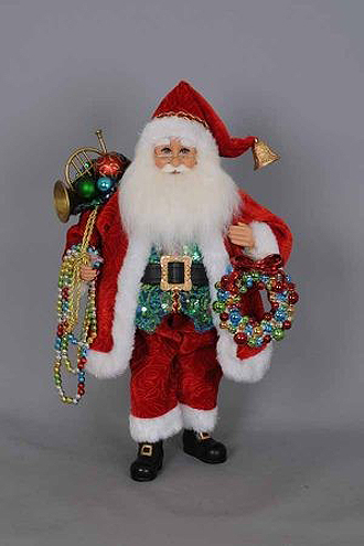 Beads with Wreath Santa