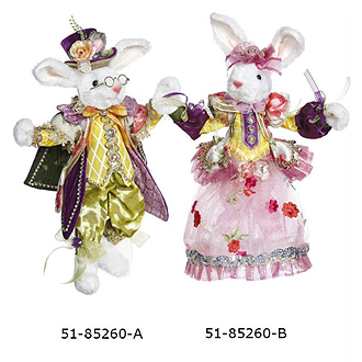 Mr. & Mrs Easter Rabbit 11-12 inches