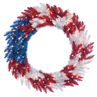 Patriotic American Wreath
