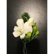 Double orchid boutonniere
