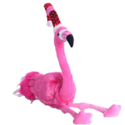 Sitting Christmas Flamingo