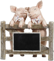 Sweet Pig With Chalkboard 14x16 inches