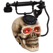 Animated Skull Telephone 8.5