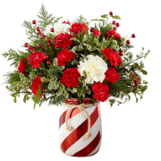 FTD Holiday Candy Striped Vase